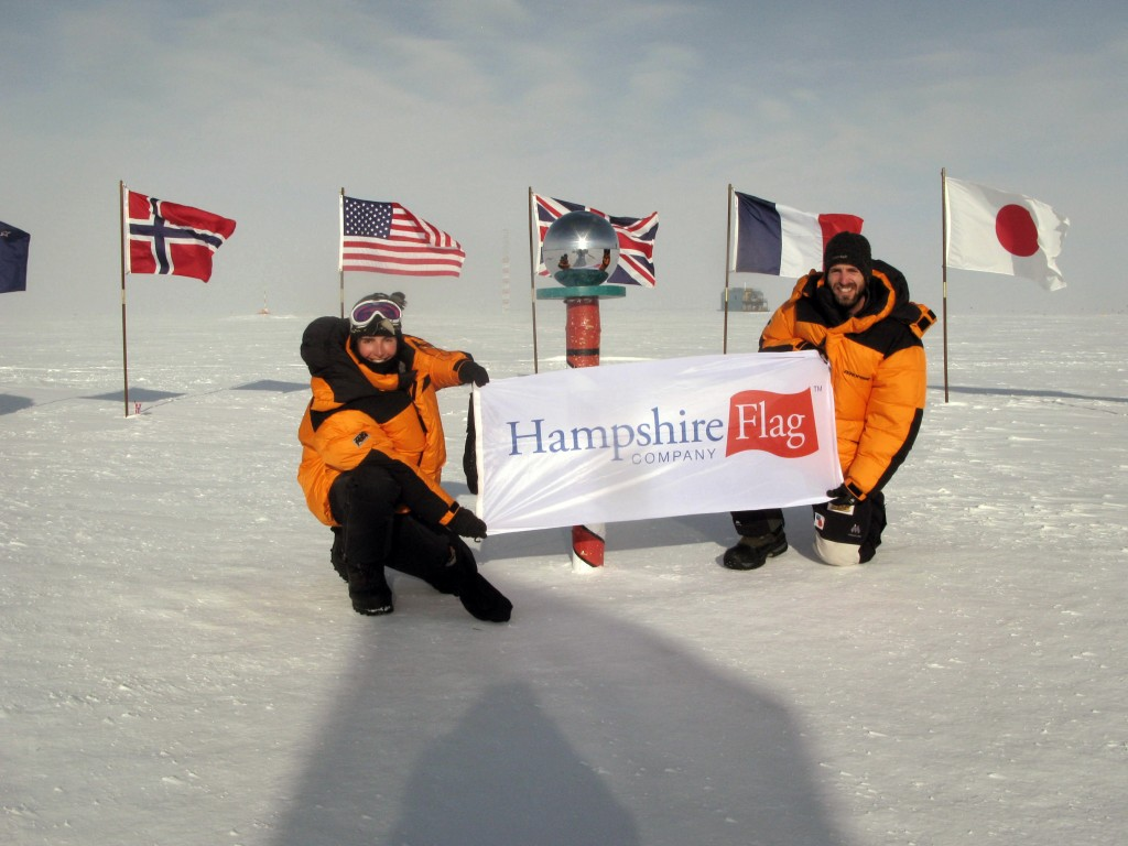 The Hampshire Flag @ The South Pole