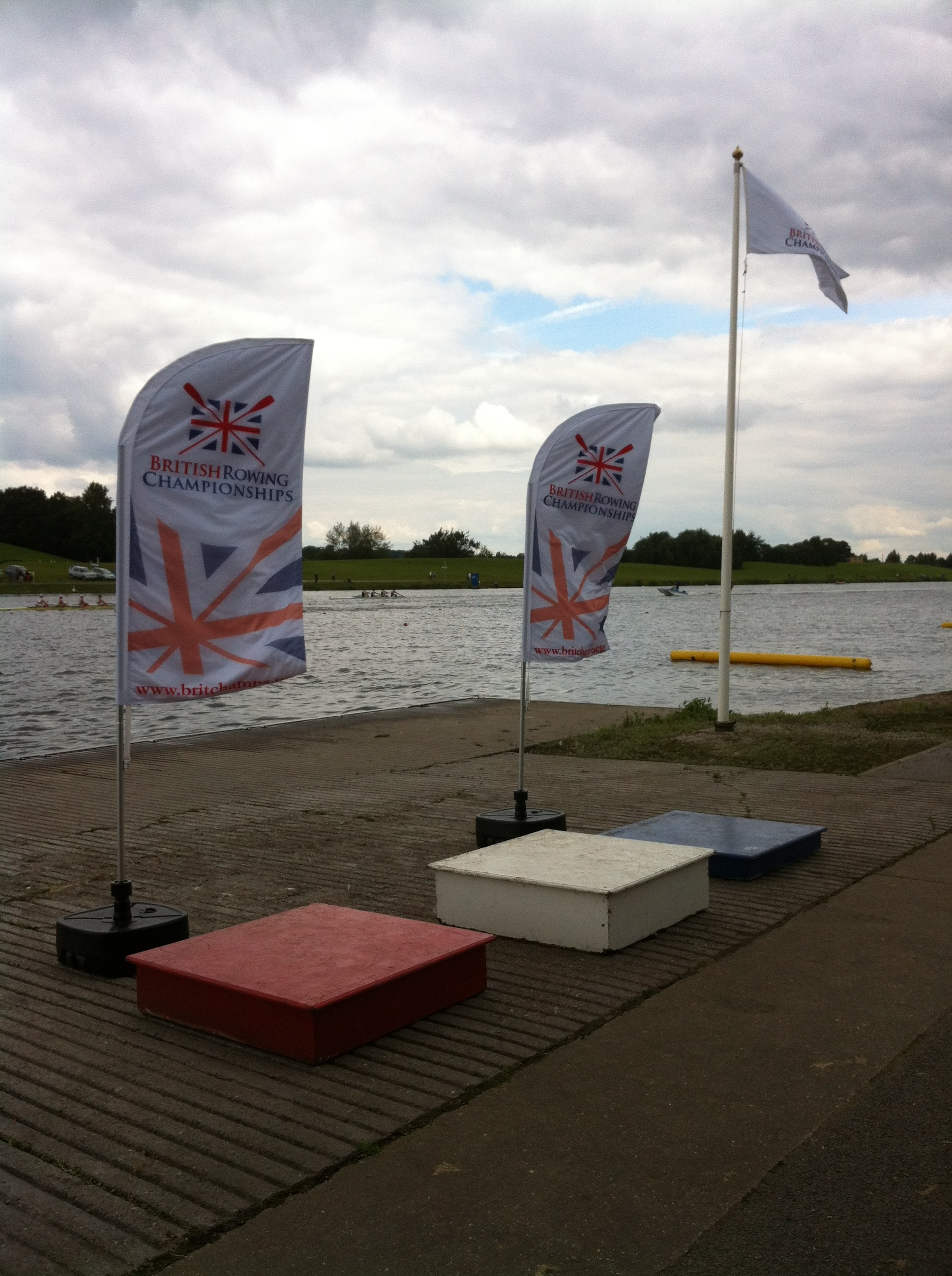 Bespoke Feather flags at the 40th British Rowing Championships