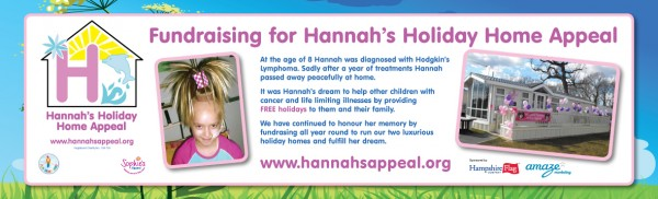 Banner for Hannah's Holiday Home Appeal