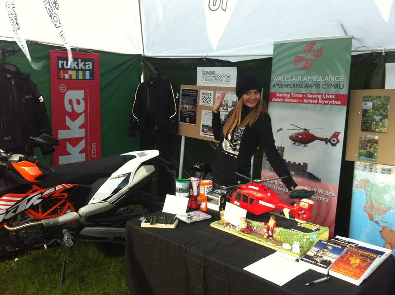 Fundraising for Wales Air Ambulance, Riders 4 Health and The World Land Trust